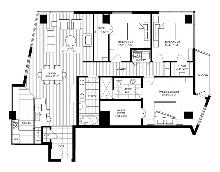 1,872 sq. ft. A16 floor plan
