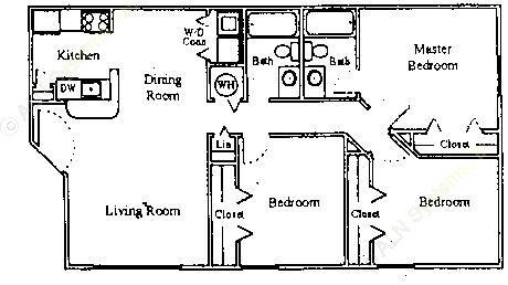 1,063 sq. ft. 60% floor plan