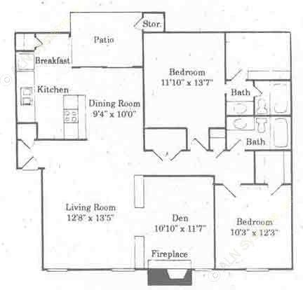 1,300 sq. ft. C1/NAVASOTA floor plan