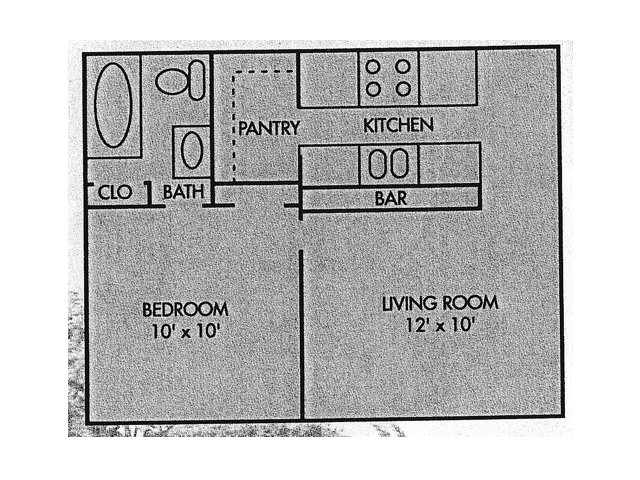 418 sq. ft. floor plan
