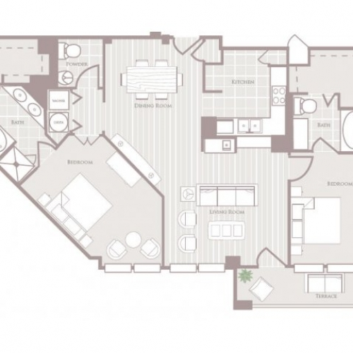 1,496 sq. ft. floor plan