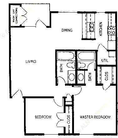 923 sq. ft. Frankford floor plan