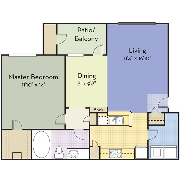 772 sq. ft. San Fran floor plan