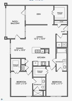 1,334 sq. ft. B2.1/B2.2 floor plan