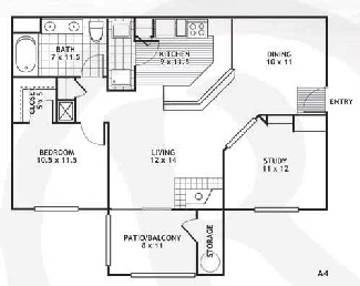 926 sq. ft. A4/Amarillo floor plan