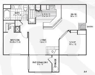 926 sq. ft. A4/AMARILLO floor plan