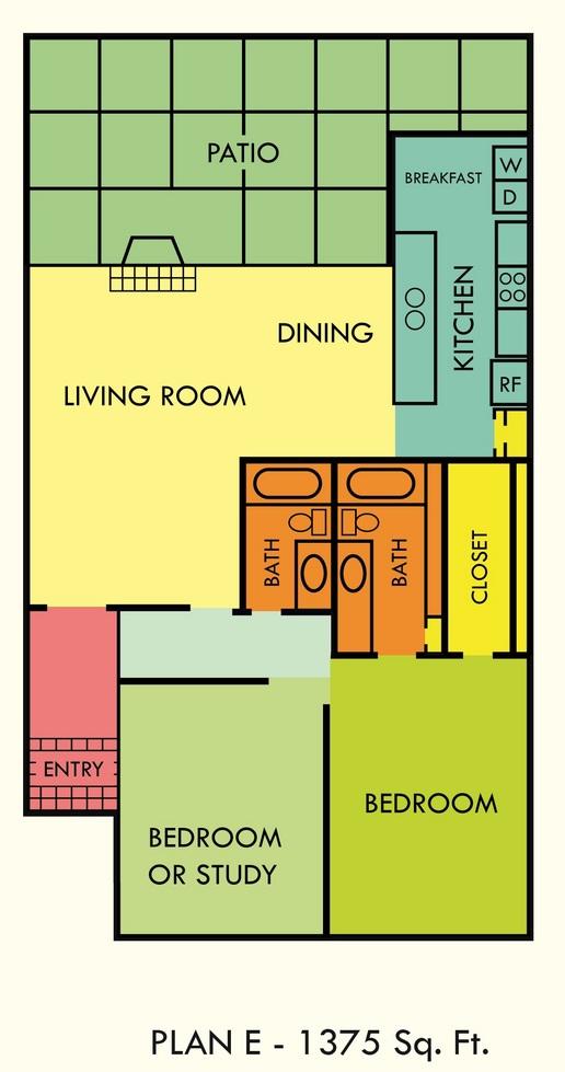 1,375 sq. ft. floor plan
