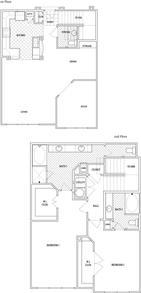 1,754 sq. ft. to 1,777 sq. ft. floor plan