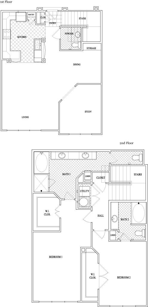 1,754 sq. ft. to 1,777 sq. ft. floor plan