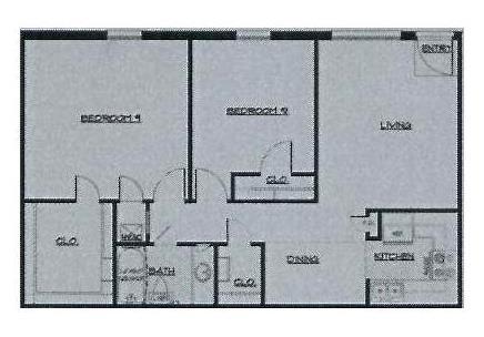 886 sq. ft. 50% floor plan