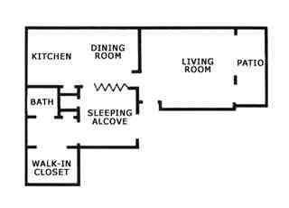 567 sq. ft. E2 floor plan