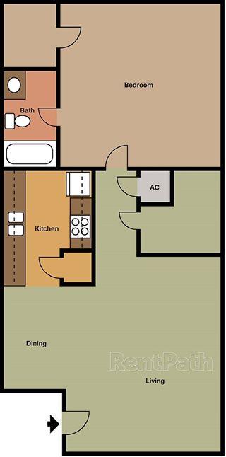 624 sq. ft. floor plan