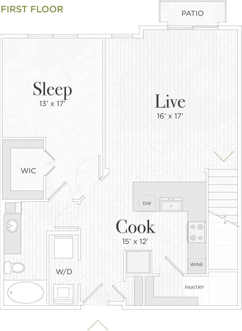 1,603 sq. ft. Rufolo II floor plan