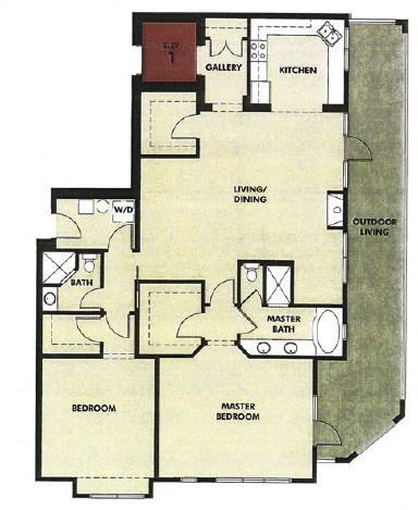 1,745 sq. ft. Patio floor plan