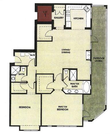 1,745 sq. ft. Patio floor plan