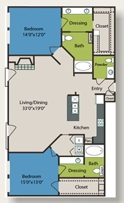 1,509 sq. ft. B7 floor plan