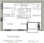 851 sq. ft. Dover floor plan