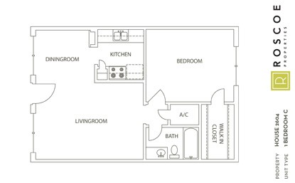 651 sq. ft. A3 floor plan