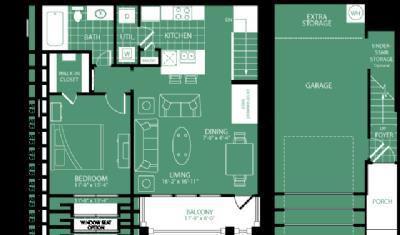 787 sq. ft. Harbour Town floor plan