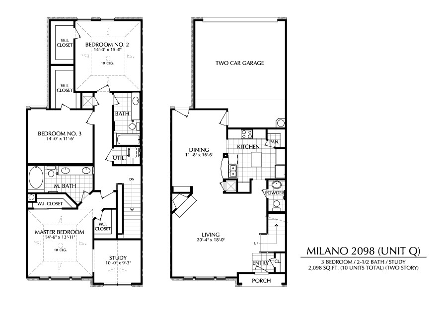 2,098 sq. ft. Q floor plan