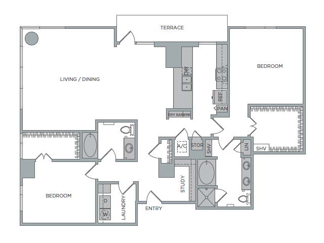 1,774 sq. ft. 2K floor plan