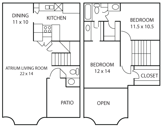 1,313 sq. ft. Iris floor plan