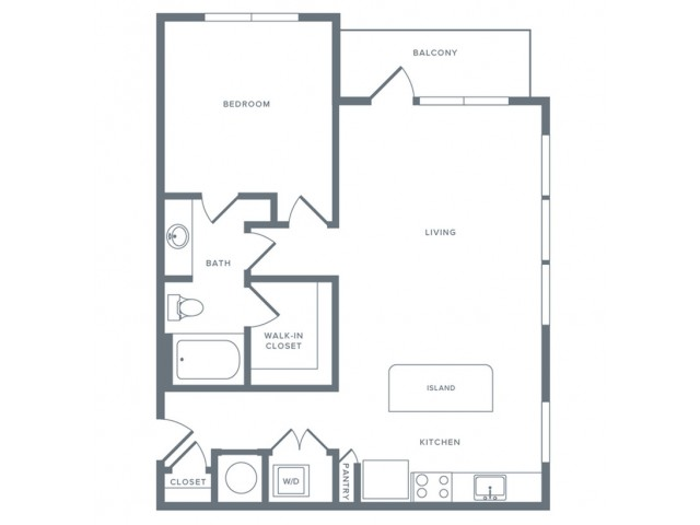 864 sq. ft. A11 floor plan