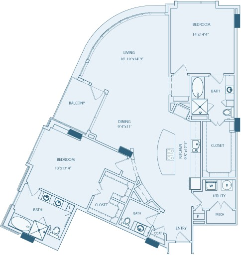 1,859 sq. ft. B5 floor plan