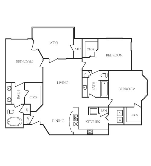 1,337 sq. ft. Remington floor plan