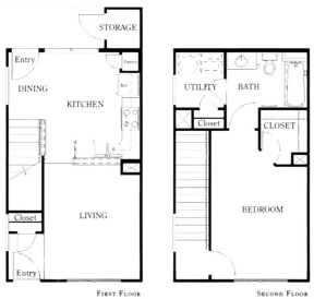 879 sq. ft. A1A/50% floor plan