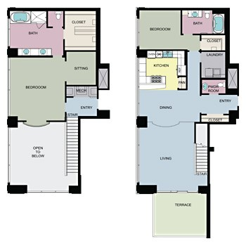 3,045 sq. ft. PH1 floor plan