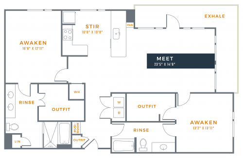 1,528 sq. ft. B3A floor plan
