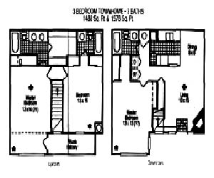 1,488 sq. ft. Corriander floor plan