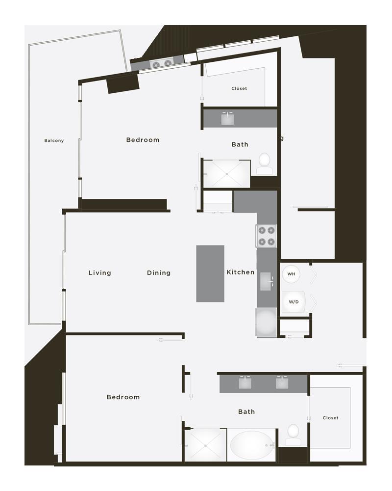 1,166 sq. ft. Grand Supreme PH floor plan
