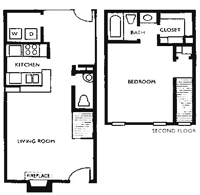 760 sq. ft. F4 floor plan