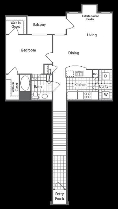 865 sq. ft. Beacon floor plan