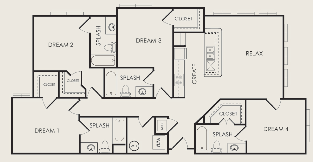 1,572 sq. ft. Chorus floor plan
