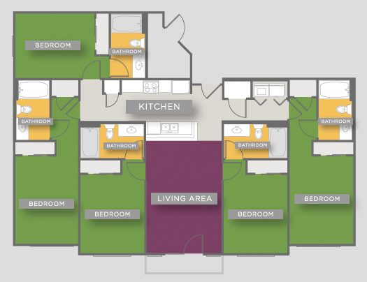 1,664 sq. ft. E1 floor plan