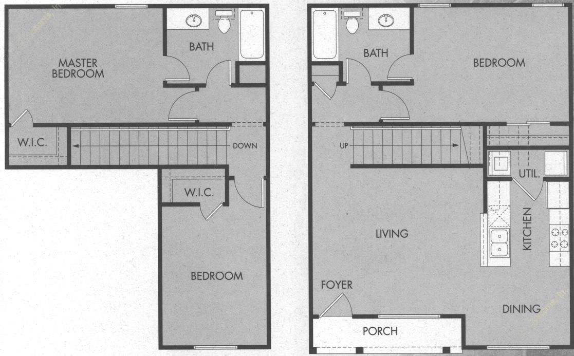 1,300 sq. ft. C2/60% floor plan