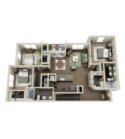 1,409 sq. ft. Woodlands floor plan