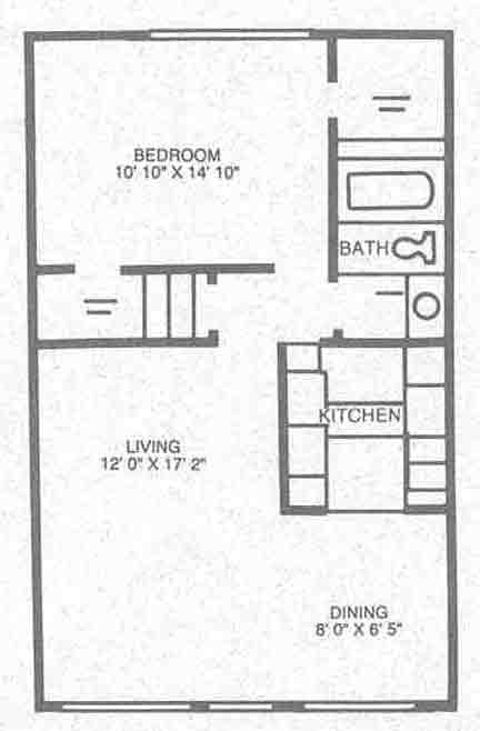 703 sq. ft. A-2 floor plan