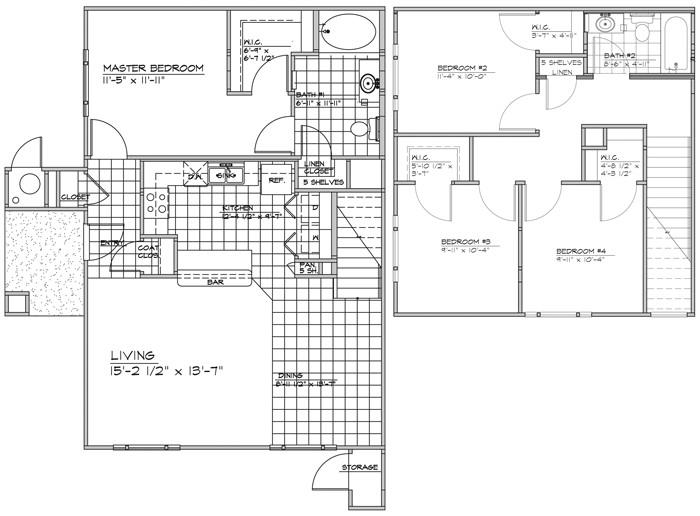 1,469 sq. ft. VENTANA/60% floor plan