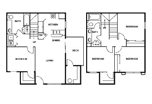 1,422 sq. ft. D 60% floor plan