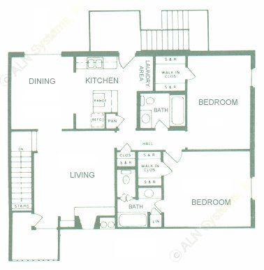 1,154 sq. ft. floor plan