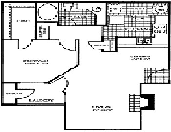 797 sq. ft. A3 floor plan
