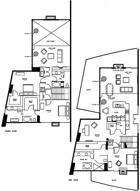 3,530 sq. ft. PH5 floor plan