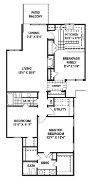 1,380 sq. ft. N2 floor plan