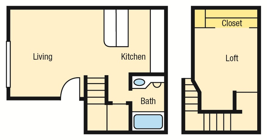 550 sq. ft. A2L floor plan