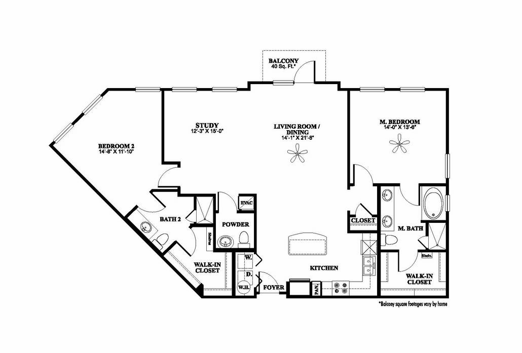 1,502 sq. ft. B4.1 floor plan