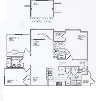1,150 sq. ft. C 60% floor plan